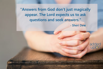 why bother praying, ask seek knock
