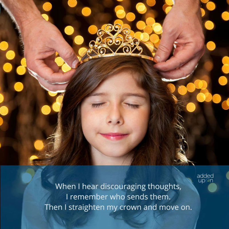 when I hear negative voices, I straighten my crown and move on