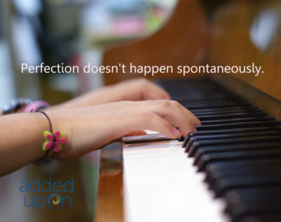 perfection doesnt happen spontaneously