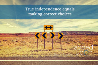 independence equals correct choices